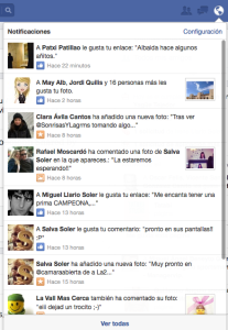 cambios notificaciones facebook